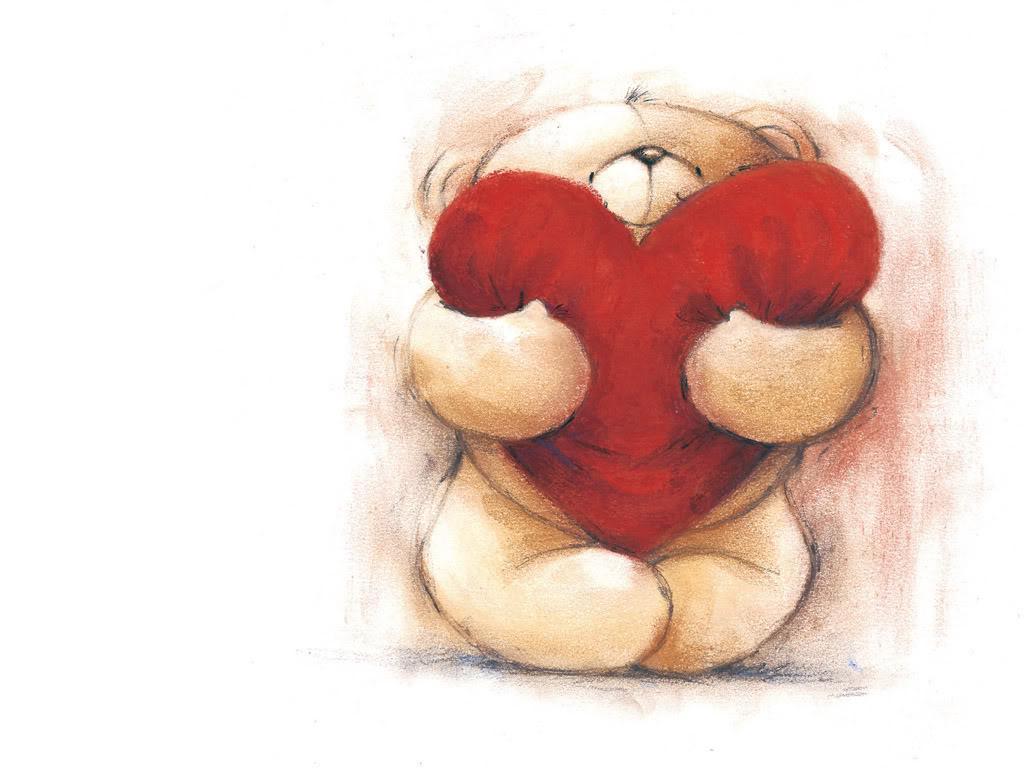 Cute Teddy Bears with Hearts